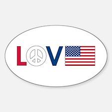 Love Peace America Decal