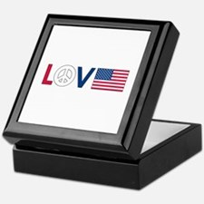 Love Peace America Keepsake Box