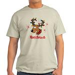 Merry Christmas Reindeer Light T-Shirt