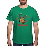 Merry Christmas Reindeer Dark T-Shirt