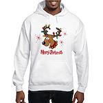 Merry Christmas Reindeer Hooded Sweatshirt