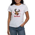Merry Christmas Reindeer Women's T-Shirt