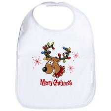 Merry Christmas Reindeer Bib