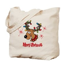 Merry Christmas Reindeer Tote Bag