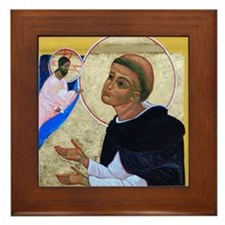 Framed Tile of St. Dominic in prayer