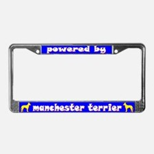 Powered by Manchester Terrier License Plate Frame