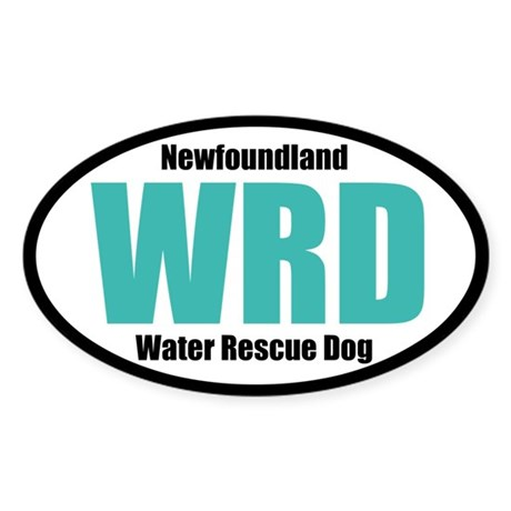 Newfoundland Water Rescue Dog Title Sticker (Oval)