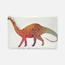 Funny Dinosaur love Rectangle Magnet
