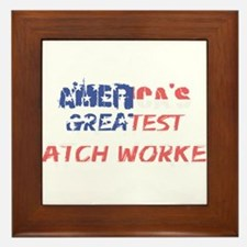 America's Greatest Patch Worker Framed Tile