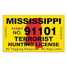 Mississippi Terrorist Hunting License Decal