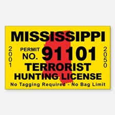 Mississippi Terrorist Hunting License Decal
