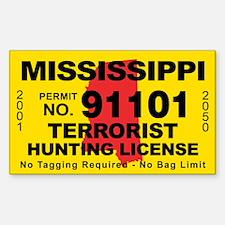 Terrorist Hunting License Gifts Merchandise Terrorist