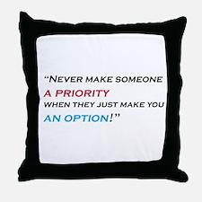 priority-option Throw Pillow