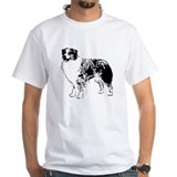 Australian shepherd Mens White T-shirts
