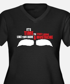 Like You Have A Mustache Women's Plus Size V-Neck