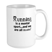 Running is a mental sport Mug