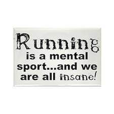 Running is a mental sport Rectangle Magnet