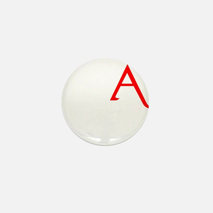 RED A SHIRT SCARLET LETTER EA Mini Button