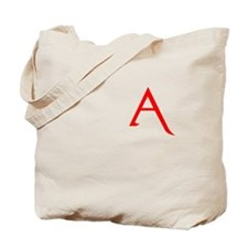 RED A SHIRT SCARLET LETTER EA Tote Bag