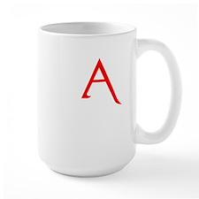 RED A SHIRT SCARLET LETTER EA Mug