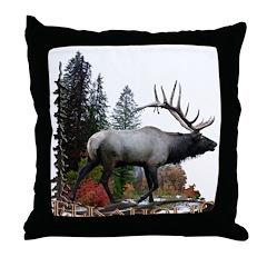 Elkaholic Throw Pillow
