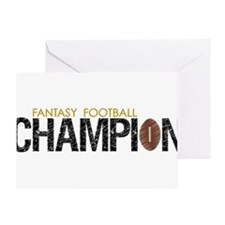 Fantasy League Champion Greeting Card