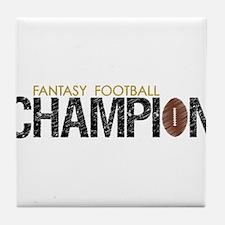 Fantasy League Champion Tile Coaster