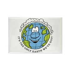 Only Earth Rectangle Magnet
