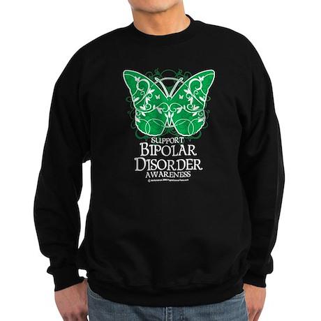 Bipolar Disorder Butterfly Sweatshirt (dark)