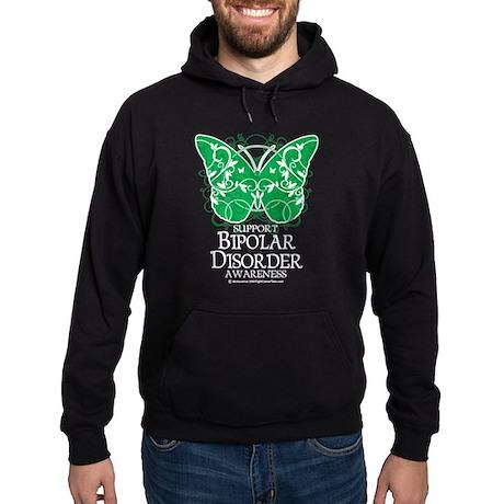 Bipolar Disorder Butterfly Hoodie (dark)