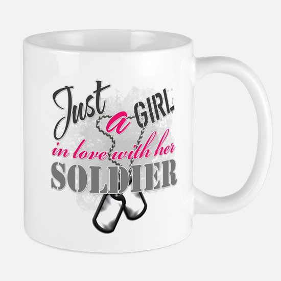 Just a girl Soldier Mugs