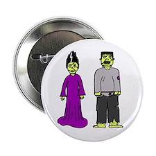 """'Frankenstein Couple' 2.25"""" Button"""