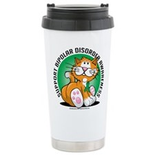 Bipolar Disorder Cat Travel Coffee Mug