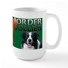 Large Irish Border Collie Mug