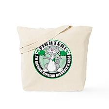 Bipolar Disorder Fighter Cat Tote Bag