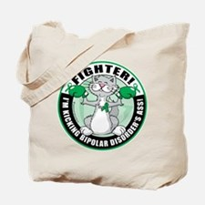 Bipolar Disorder Fighter Cat Tote Bag