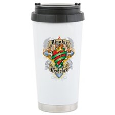 Bipolar Disorder Cross & Hear Travel Mug