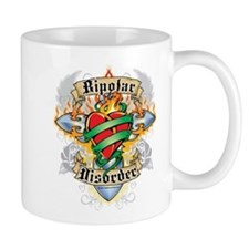 Bipolar Disorder Cross & Hear Mug