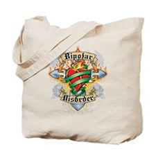 Bipolar Disorder Cross & Hear Tote Bag