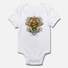 Bipolar Disorder Cross & Hear Infant Bodysuit