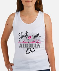 Just a girl Airman Tank Top