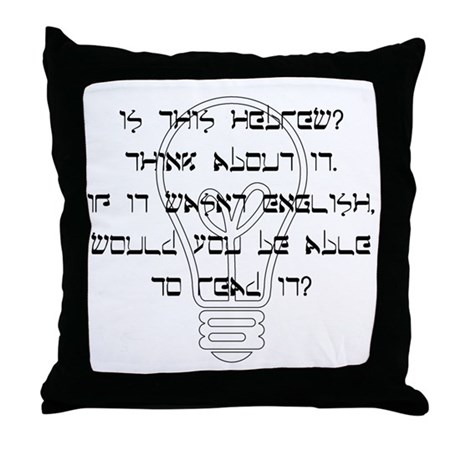 """""""Which Language?"""" Throw Pillow"""