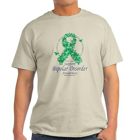 Bipolar Disorder Ribbon of Bu Light T-Shirt