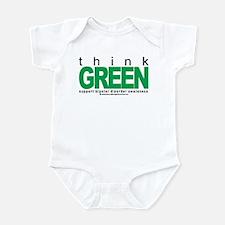 Bipolar Disorder Think Green Infant Bodysuit