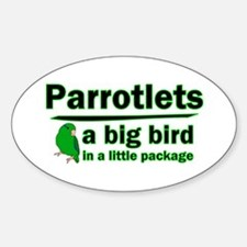 Green Parrotlets Oval Decal