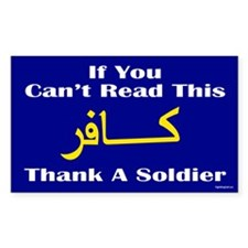 Thank a Soldier Decal
