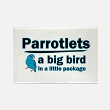 Blue Parrotlets Rectangle Magnet