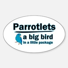 Blue Parrotlets Oval Decal