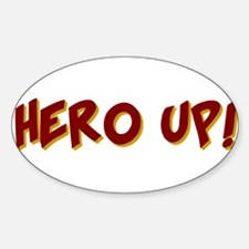 KIDS SUPER HERO SHIRT HERO UP Sticker (Oval)