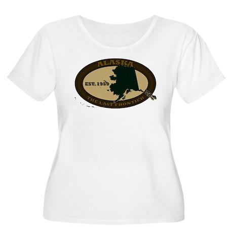 Alaska Est. 1959 Women's Plus Size Scoop Neck T-Sh